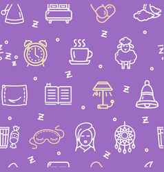 sleeping and insomnia pattern background concept vector image vector image