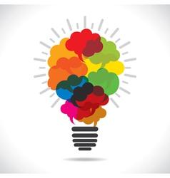 colorful message bubble bulb vector image
