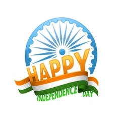India independence day badge 15th of august vector image vector image