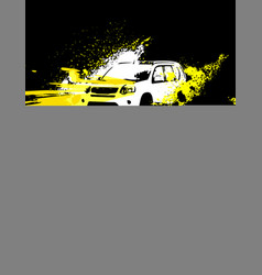 off-road poster image vector image