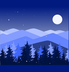 abstract background with mountains and trees vector image
