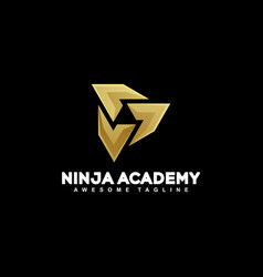 abstract ninja concept template vector image