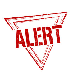 alert sign or stamp vector image