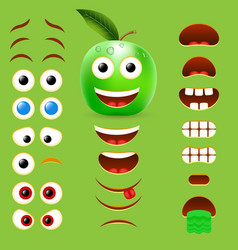 Apple male emoji creator design collection vector