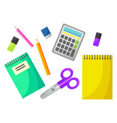 Back to school chancellery object office vector