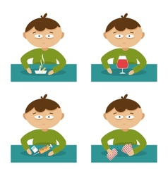 Bad habits Flat vector image