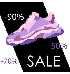 Black friday sneaker shoe sale banner consept vector