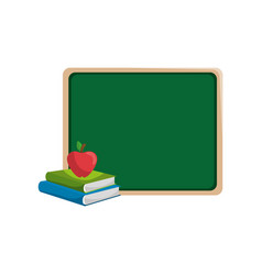 blackboard with books vector image
