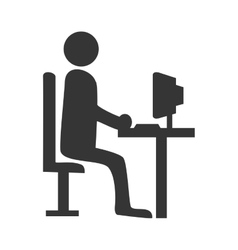 Businessman working pictogram graphic design vector image