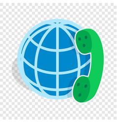 Calls around world isometric icon vector