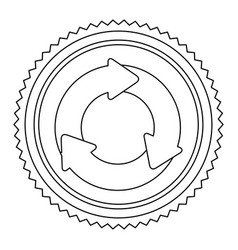 Circular frame contour with circular recycling vector