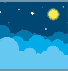 Cloud with night sky landscape background vector