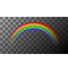 colorful rainbow on transparent background vector image