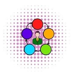 Cooperation teamwork partnership icon vector