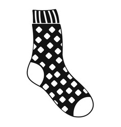Cotton sock icon simple style vector