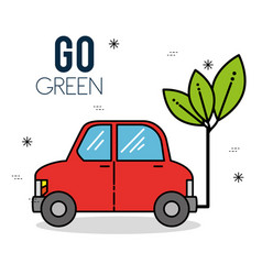 Eco car green energy design vector