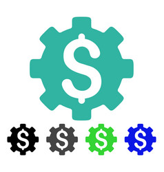 Financial options flat icon vector