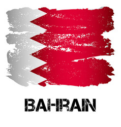 Flag of bahrain from brush strokes vector