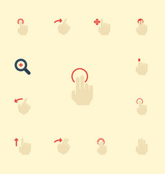 Flat icons slide swipe right and other vector