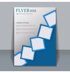 Flyer template for design vector