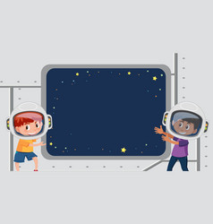 frame design template with space in background vector image