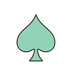 game spade icon Eps10 vector image
