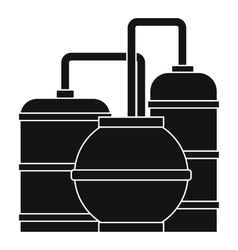 Gas storage tanks icon simple style vector
