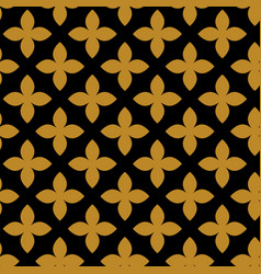 geometric ornament golden seamless pattern vector image