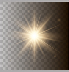 golden shining sun vector image