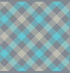 Gray blue diagonal checkered plaid seamless vector