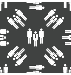 Group of people pattern vector image