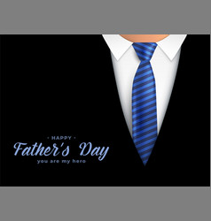 Happy fathers day hero dad background vector