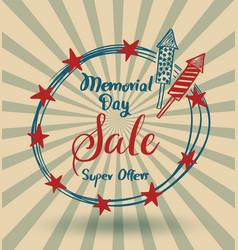 happy memorial day lettering vector image