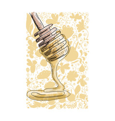 honey sketch for your design vector image