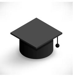 isometric graduation cap vector image