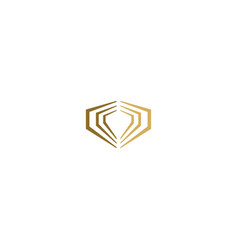 jewelry diamond shape logo vector image