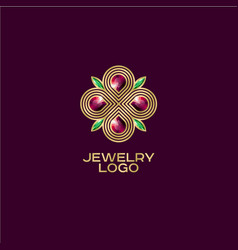 jewelry logo vector image
