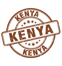 Kenya brown grunge round vintage rubber stamp vector