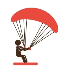 Kite surf sport icon vector