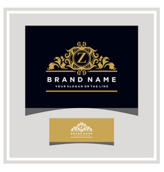 Letter z logo design concept royal luxury gold vector