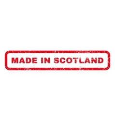 Made In Scotland Rubber Stamp vector