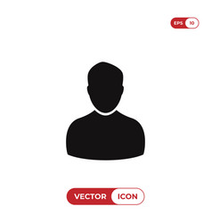male user icon vector image