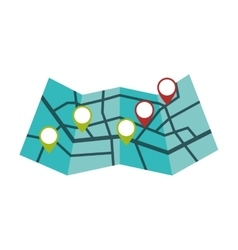 Map delivery shipping logistic security icon vector
