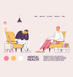 mental health concept banner template vector image