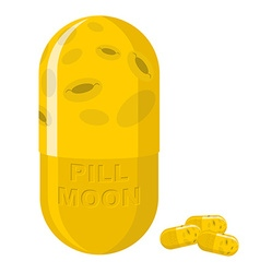 Moon pill Fantastic Medication from disease vector image