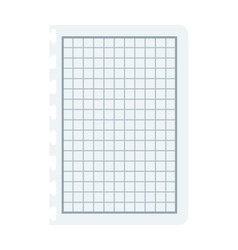 Notebook papers with lines and grid vector image