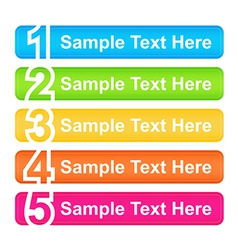One Two Three Four Five Header Blocks vector image
