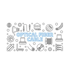 optical fiber cable outline concept vector image