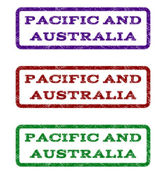 pacific and australia watermark stamp vector image