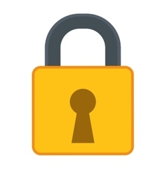 Padlock icon Security and warning design vector